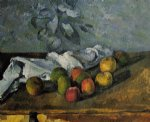 apples and napkin by paul cezanne paintings