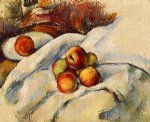apples on a sheet by paul cezanne painting