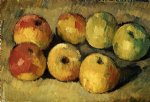 paul cezanne apples oil painting