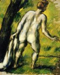 bather from the back by paul cezanne paintings