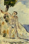 bather with arms spread by paul cezanne paintings