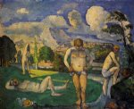 bathers at rest by paul cezanne painting