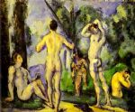 paul cezanne bathers in the open air painting