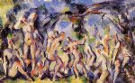 bathers study by paul cezanne painting