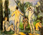bathers v by paul cezanne painting