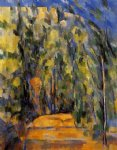 bend in the forest road by paul cezanne painting
