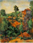 bibemus quarry by paul cezanne painting
