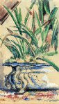 blue flowerpot by paul cezanne painting