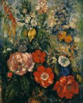 paul cezanne bouquet of flowers painting