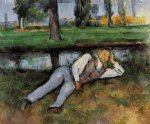 paul cezanne boy resting painting