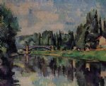 bridge over the marne by paul cezanne painting