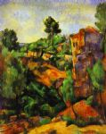 canyon of bibemus by paul cezanne painting