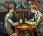 card players with pipes by paul cezanne painting