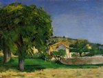 chestnut trees and farmstead of jas de bouffin by paul cezanne painting