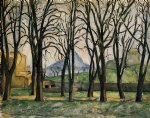 chestnut trees at the jas de bouffan by paul cezanne painting