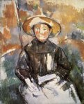 paul cezanne child in a straw hat painting