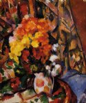 chrysanthemums by paul cezanne painting