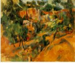 corner of the quarry by paul cezanne painting