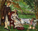 paul cezanne couple in a garden art