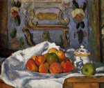 dish of apples by paul cezanne painting