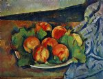 dish of peaches by paul cezanne paintings