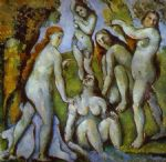 five bathers by paul cezanne painting