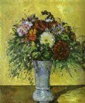 paul cezanne flowers in a blue vase art