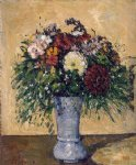 paul cezanne flowers in a blue vase painting 27707