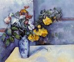 paul cezanne flowers in a vase iii painting 27709