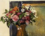 paul cezanne flowers in a vase poster