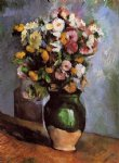 paul cezanne flowers in an olive jar painting 27710