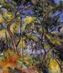 forest by paul cezanne painting