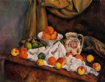 fruit bowl pitcher and fruit by paul cezanne painting