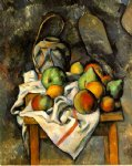 ginger jar and fruit by paul cezanne painting