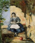 girl by paul cezanne painting