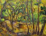 grindstone and cistern in a grove by paul cezanne painting