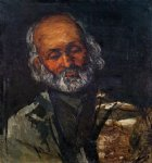 head of an old man by paul cezanne painting