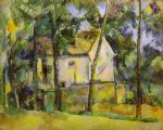 house and trees by paul cezanne painting