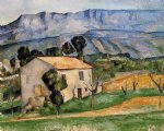 houses in provence near gardanne by paul cezanne painting