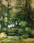 houses in the greenery by paul cezanne painting