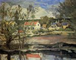 in the valley of the oise by paul cezanne painting
