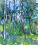 in the woods ii by paul cezanne painting