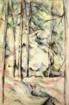 in the woods iv by paul cezanne painting