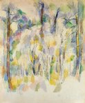 in the woods by paul cezanne painting