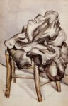 jacket on a chair by paul cezanne painting