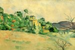 landscape at midday by paul cezanne painting
