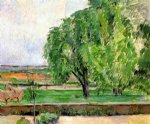 landscape at the jas de bouffin by paul cezanne painting