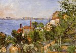 landscape study after nature by paul cezanne painting