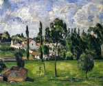 landscape with a canal by paul cezanne painting