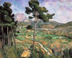 landscape with viaduct by paul cezanne painting